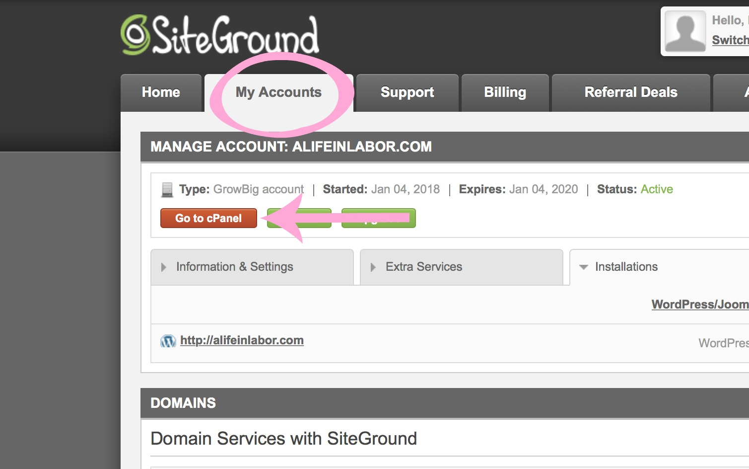 how to start a blog. how to set up wordpress through SiteGround. Why choose SiteGround to host my blog.