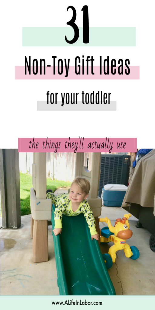 non-toy gift ideas for toddlers
