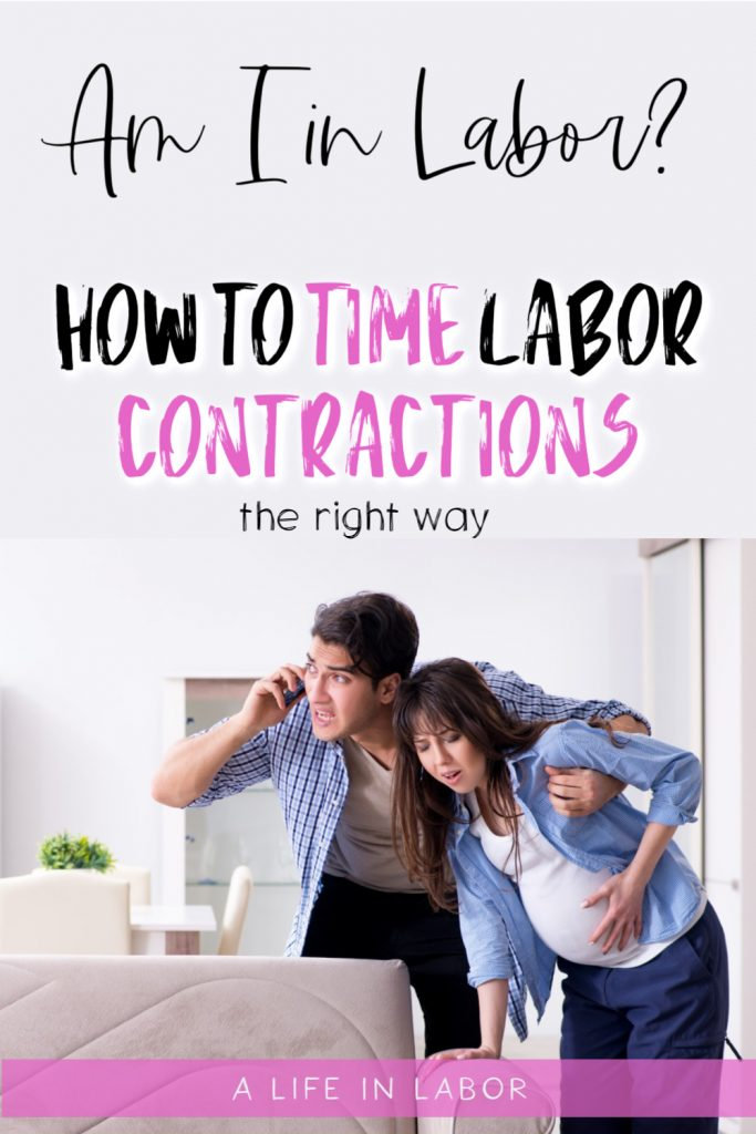 timing labor contractions